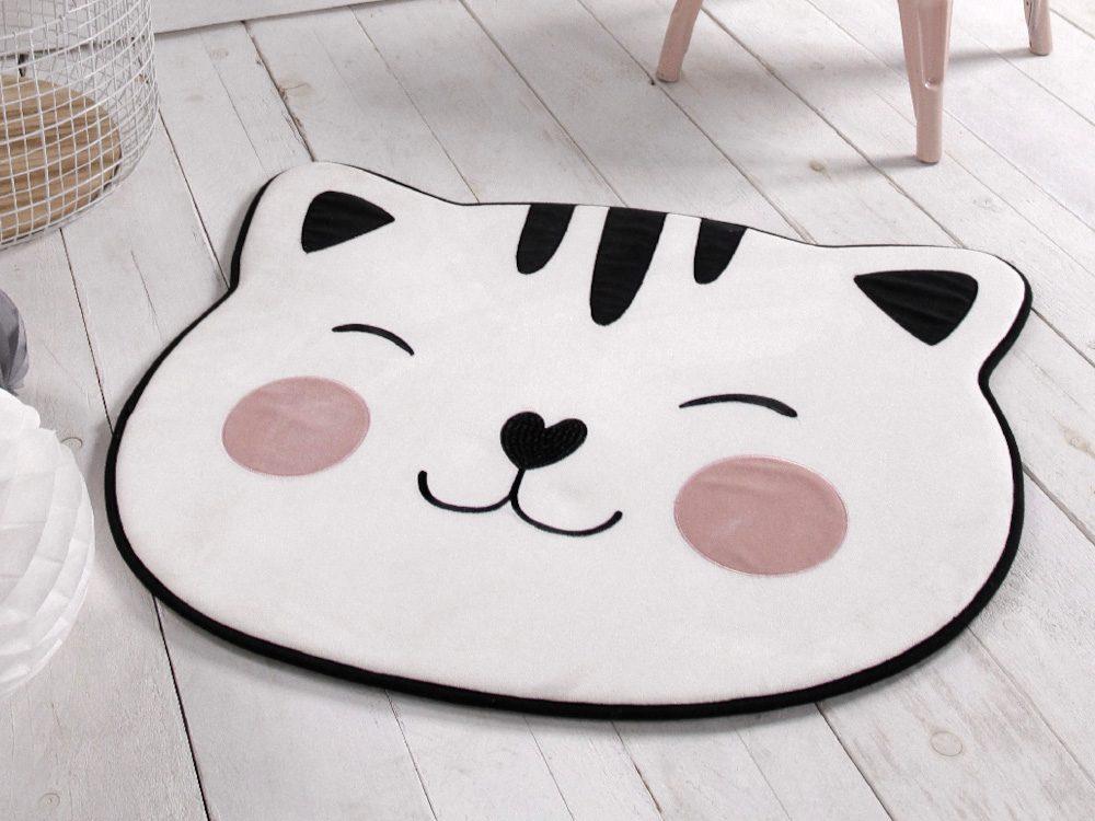 TODAY KIDS tvarovaný detský koberec / podložka Cat 70x80 cm