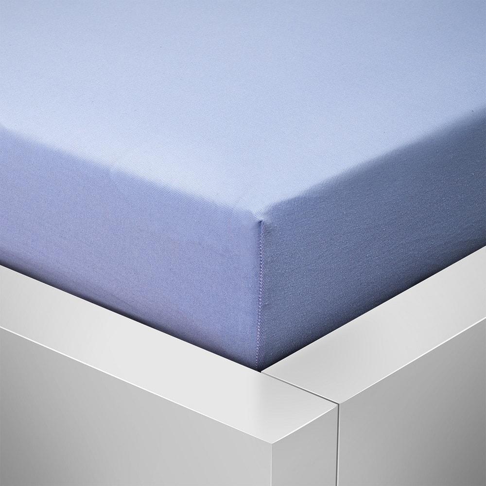 Homeville jersey prostěradlo české výroby světle modrá 30cm výška - 180x200 cm