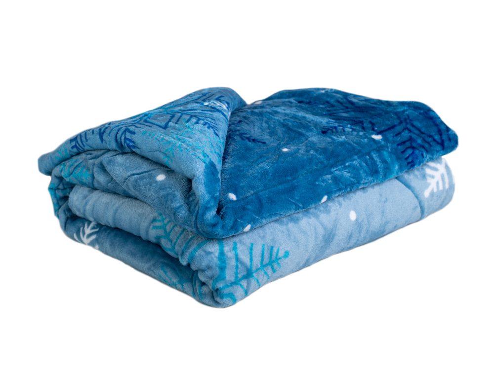Homeville deka mikroplyš 150x200 cm Flake blue
