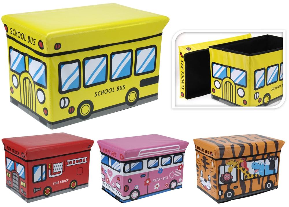 Home collection Skladací box / taburet pre deti 49x31x31 cm - Hasiči
