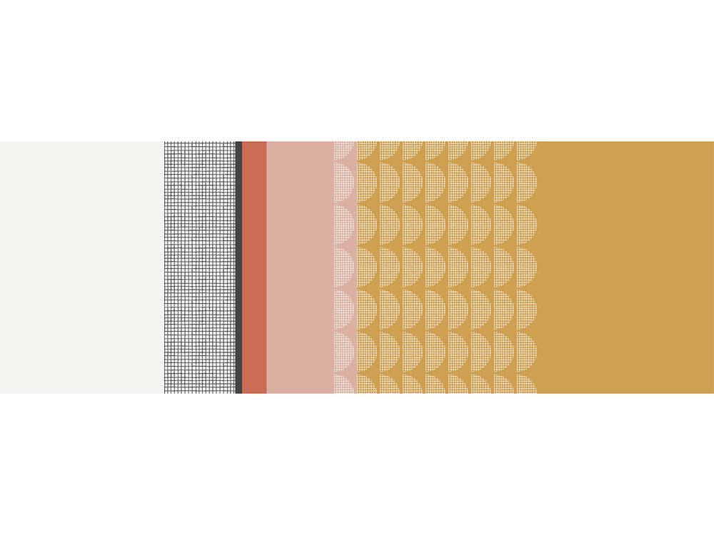 TODAY TERRA ROSA koberec 60x170 cm pruhy vzorů
