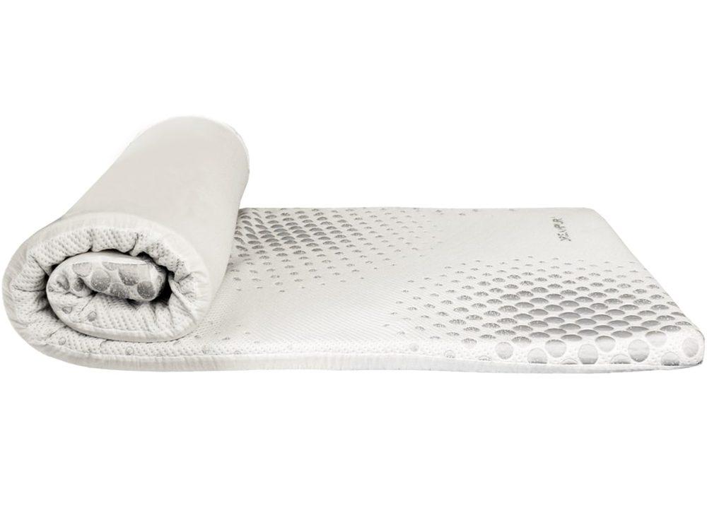 DREAMPUR Přistýlka z latexové pěny DREAMPUR® Grey dots 5 cm - rozbaleno / 2. jakost - 120x200 cm