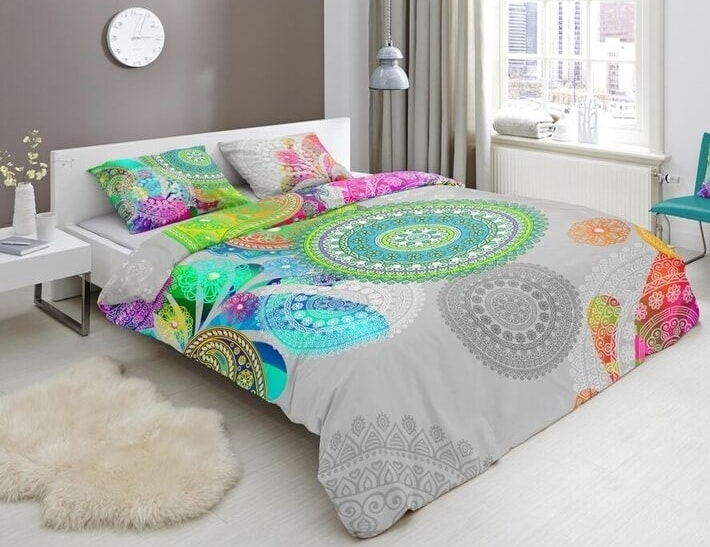 HIP Designové obliečky HIP bavlnený satén 5089 XANDINE - 135x200 / 80x80 cm