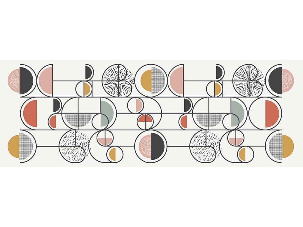 TODAY TERRA ROSA koberec 60x170 cm barevné retro