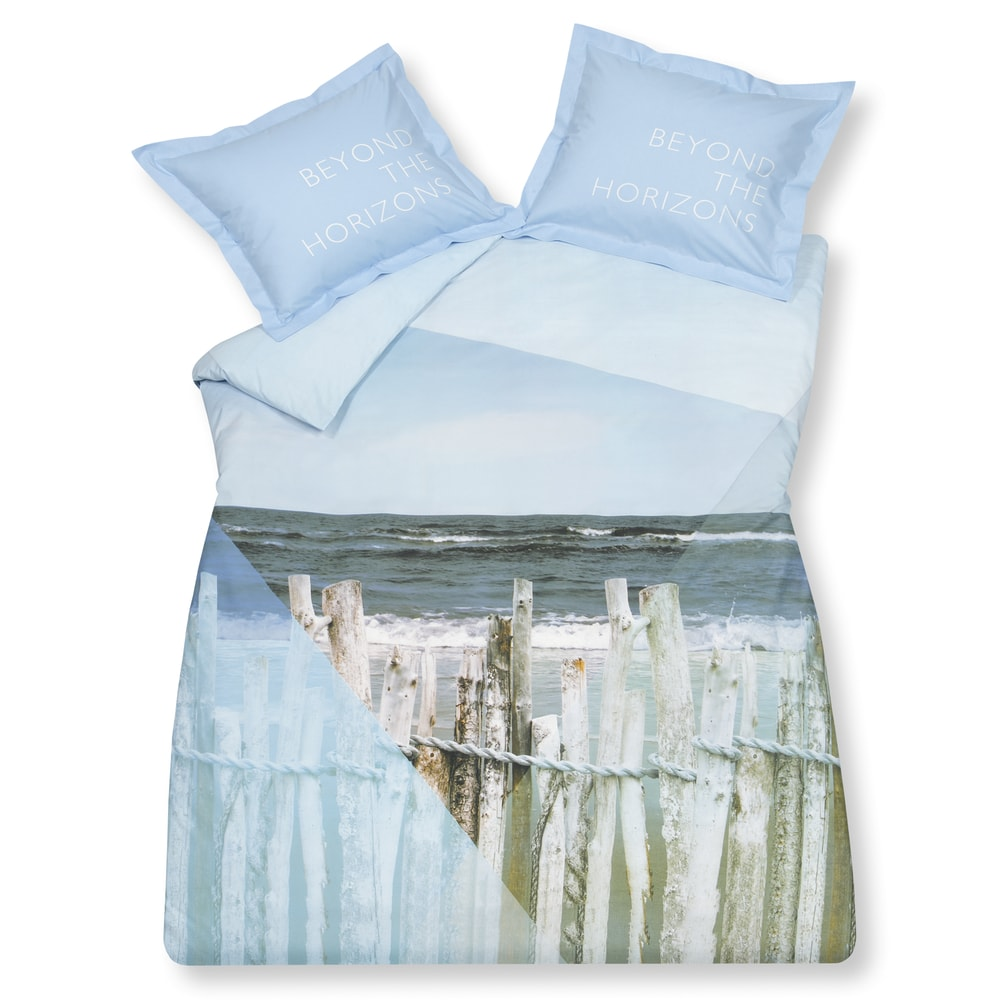 Vandyck Luxusné bavlnené obliečky VANDYCK Ocean Waves - 140x200-220 / 60x70 cm