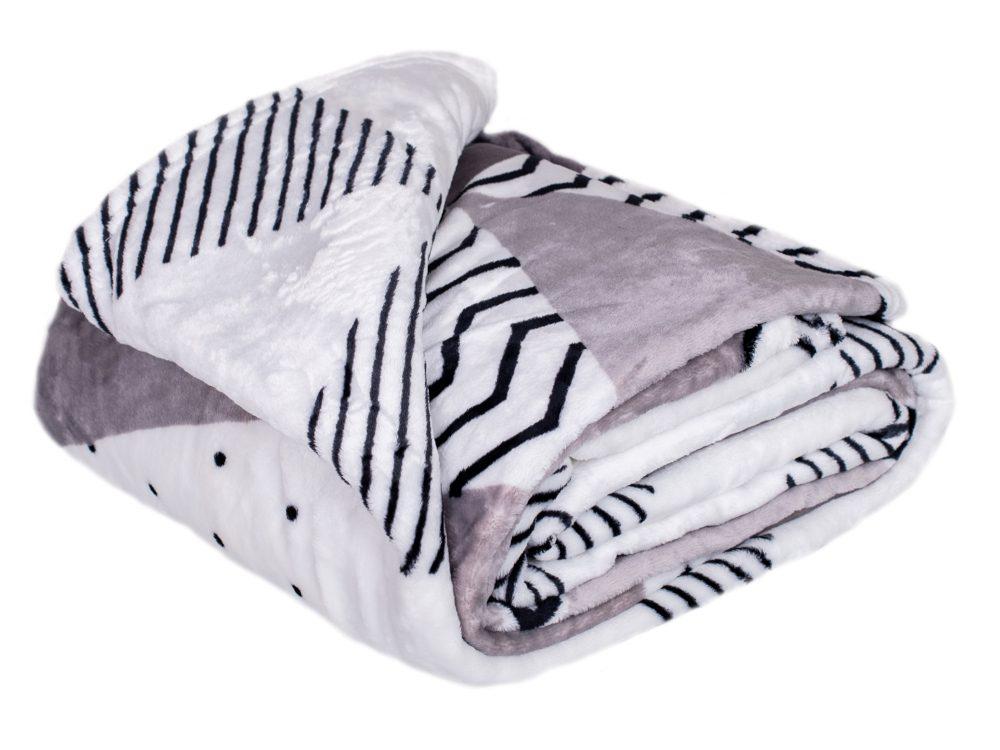 Homeville deka mikroplyš Triangle grey - 150x200 cm