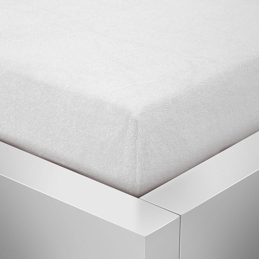Homeville froté prostěradlo české výroby bílá 30cm výška - 180x200 cm
