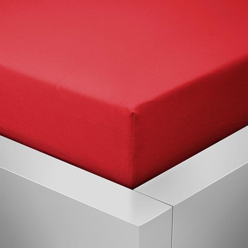 Homeville jersey plachta ELASTIC červená - 90x200 cm