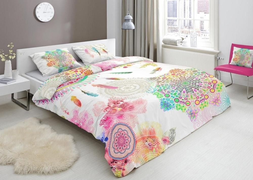 HIP Designové obliečky HIP bavlnený satén 4947 PALAYA - 140x200-220 / 60x70 cm