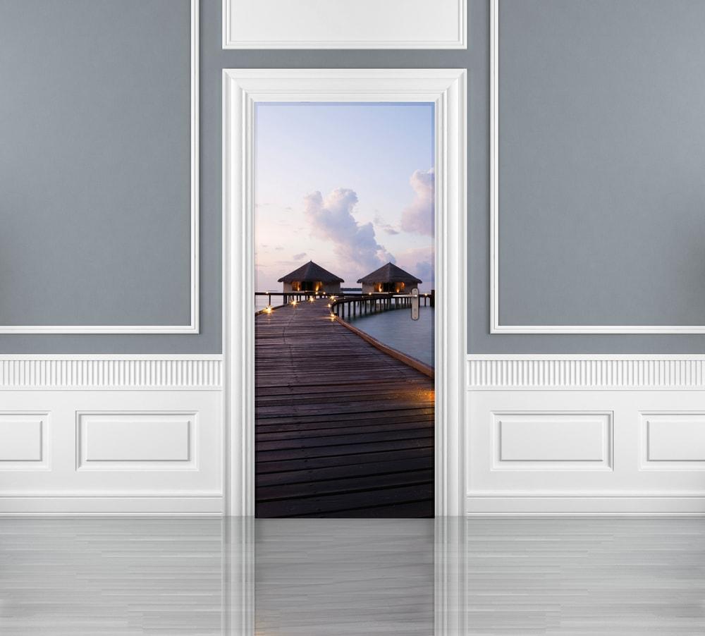 1Wall fototapeta Domčeky na mori 95x210 cm