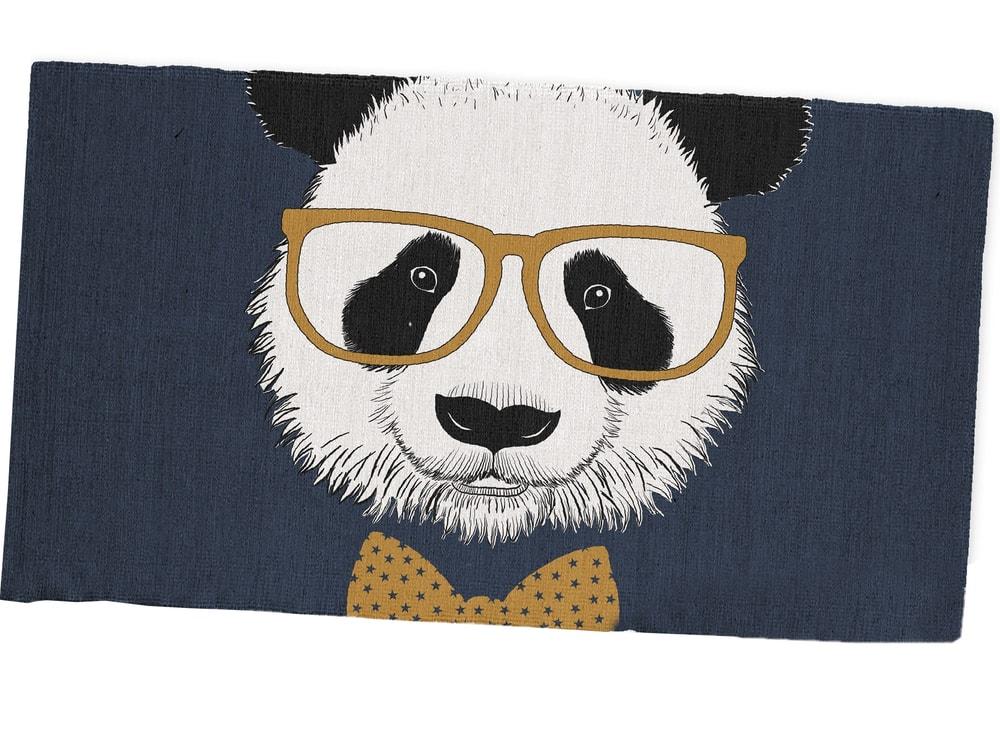 TODAY KIDS bavlněný koberec Panda 60x120 cm
