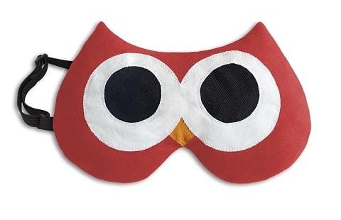 Leschi LESCHÍ Maska na spaní sova Stella 20x12cm červená/černá