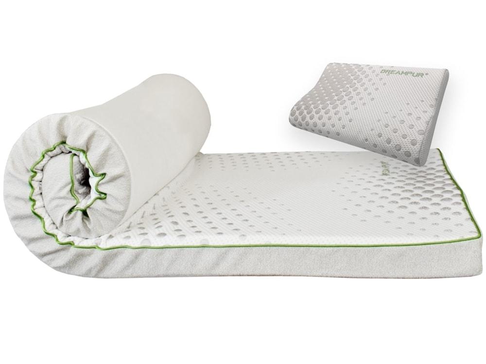 DREAMPUR Vrchný matrac z latexovej peny DREAMPUR® grey dots 8,5 cm - 140x200 cm