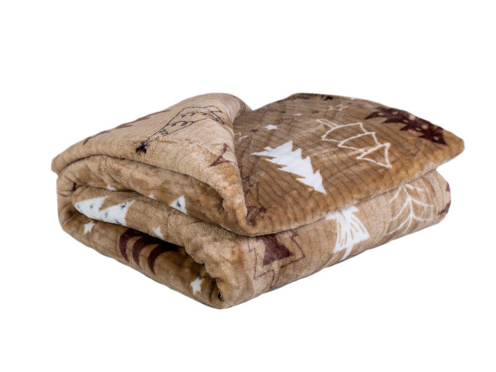 Homeville deka mikroplyš 150x200 cm Trees brown