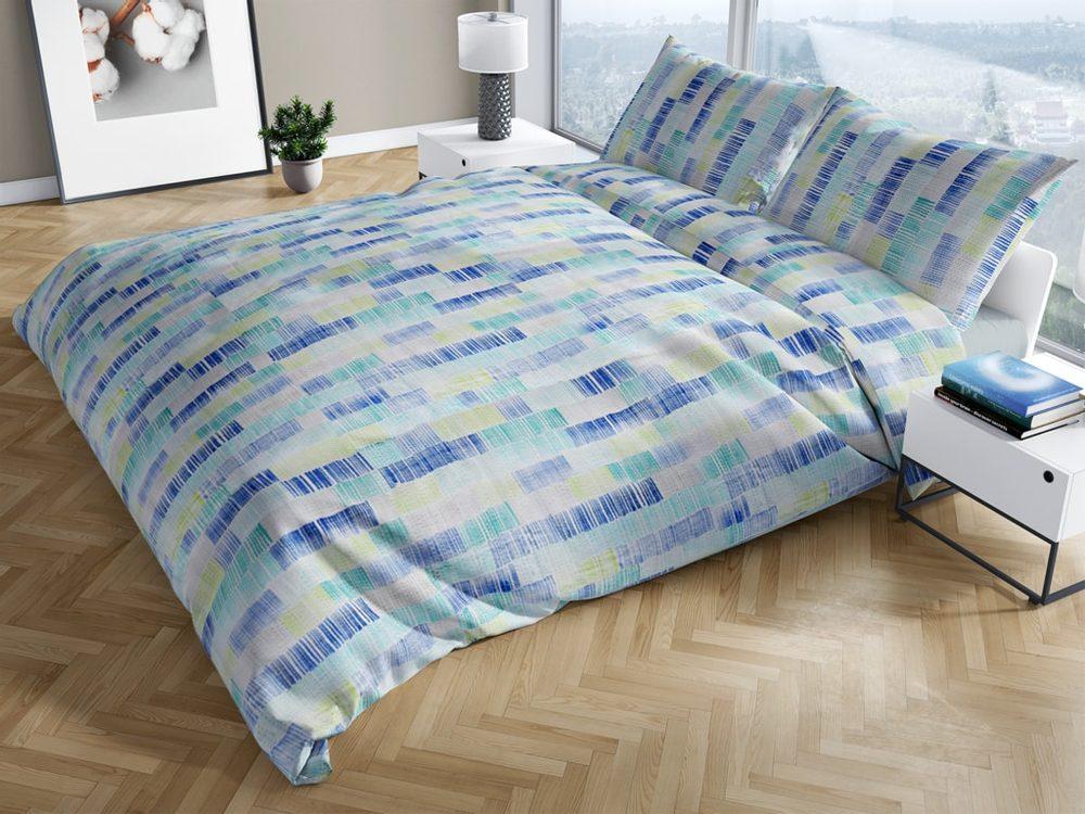 Bierbaum krepová obliečka 3528 Ilse zelená 140x200/70x90 cm