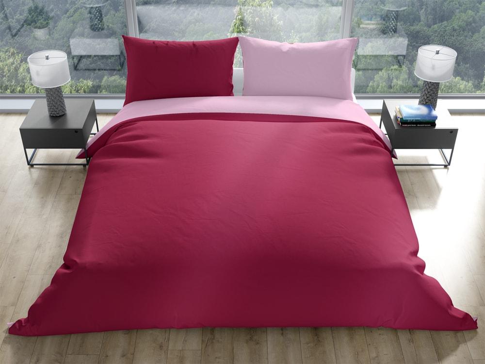 Gipetex Natural Dream Talianske obliečky 100% bavlna Doubleface vínovo-ružová - 220x200 / 2x70x90 cm