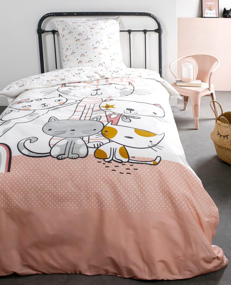 TODAY KIDS povlečení 100% bavlna Cats 140x200/63x63 cm
