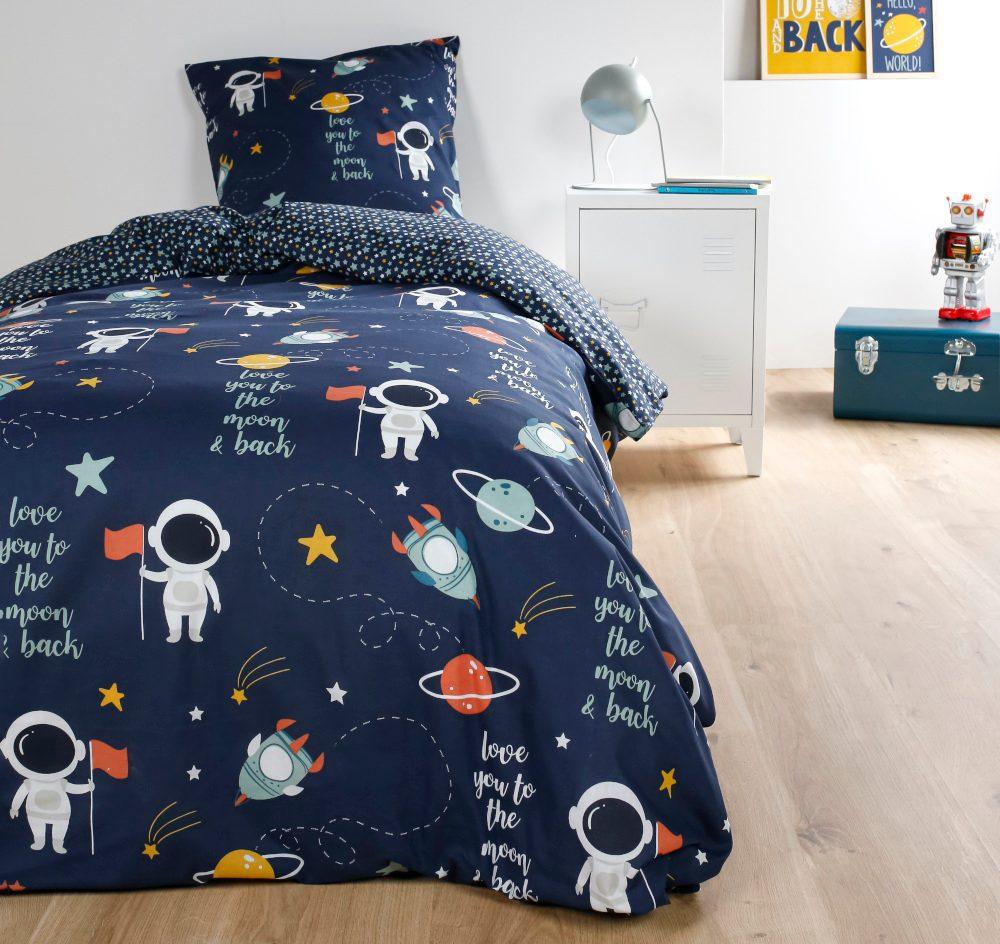 TODAY KIDS povlečení 100% bavlna Astronauts 140x200/63x63 cm