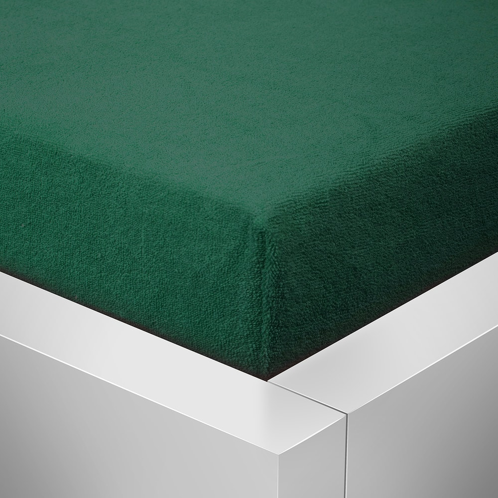 Homeville froté prostěradlo české výroby barva jehličí 30cm výška - 90x200 cm