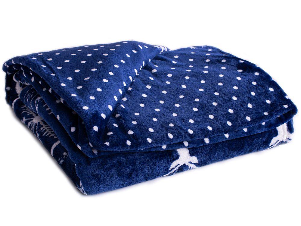 Homeville deka mikroplyš 150x200 cm nórsky vzor tmavomodrá