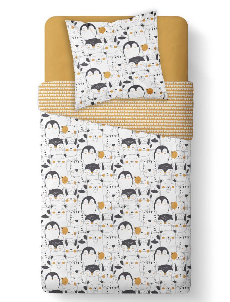 TODAY KIDS obliečky z mikrovlákna Penguin and friends 140x200/63x63 cm