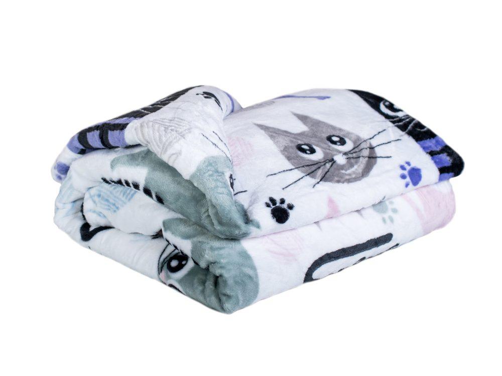 Homeville deka mikroplyš 150x200 cm Cats