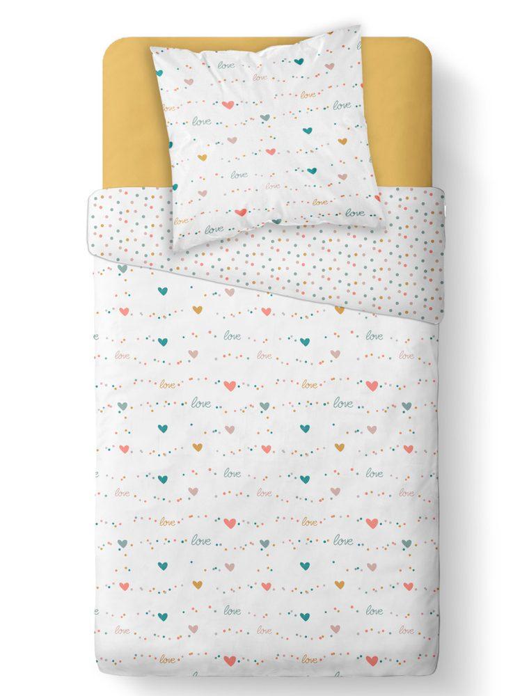 TODAY KIDS povlečení mikrovlákno Love & Dots 140x200/63x63 cm