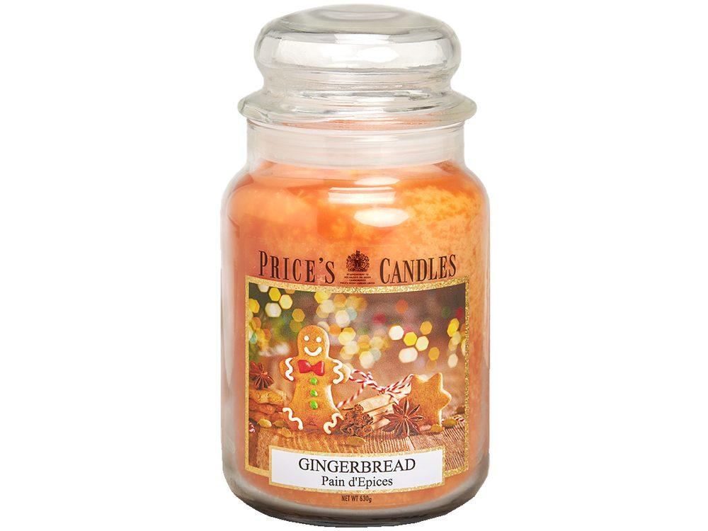 PRICE´S MAXI svíčka ve skle Gingerbread - hoření 150h