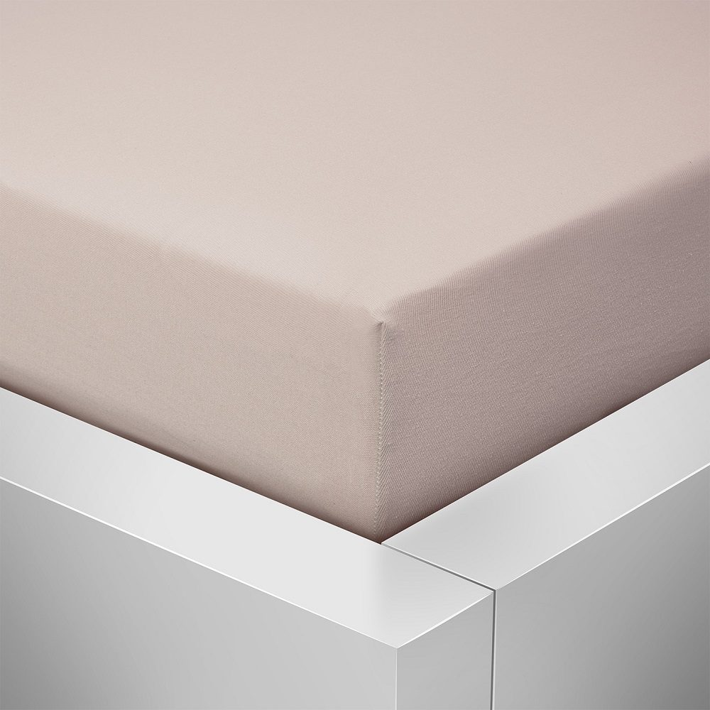 Homeville jersey plachta ELASTIC latté - 140x200 cm
