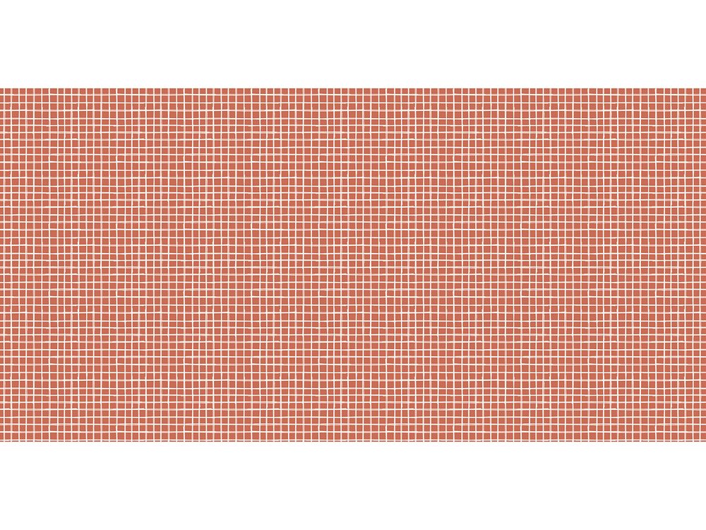 TODAY TERRA ROSA koberec 60x120 cm červené čtverečky