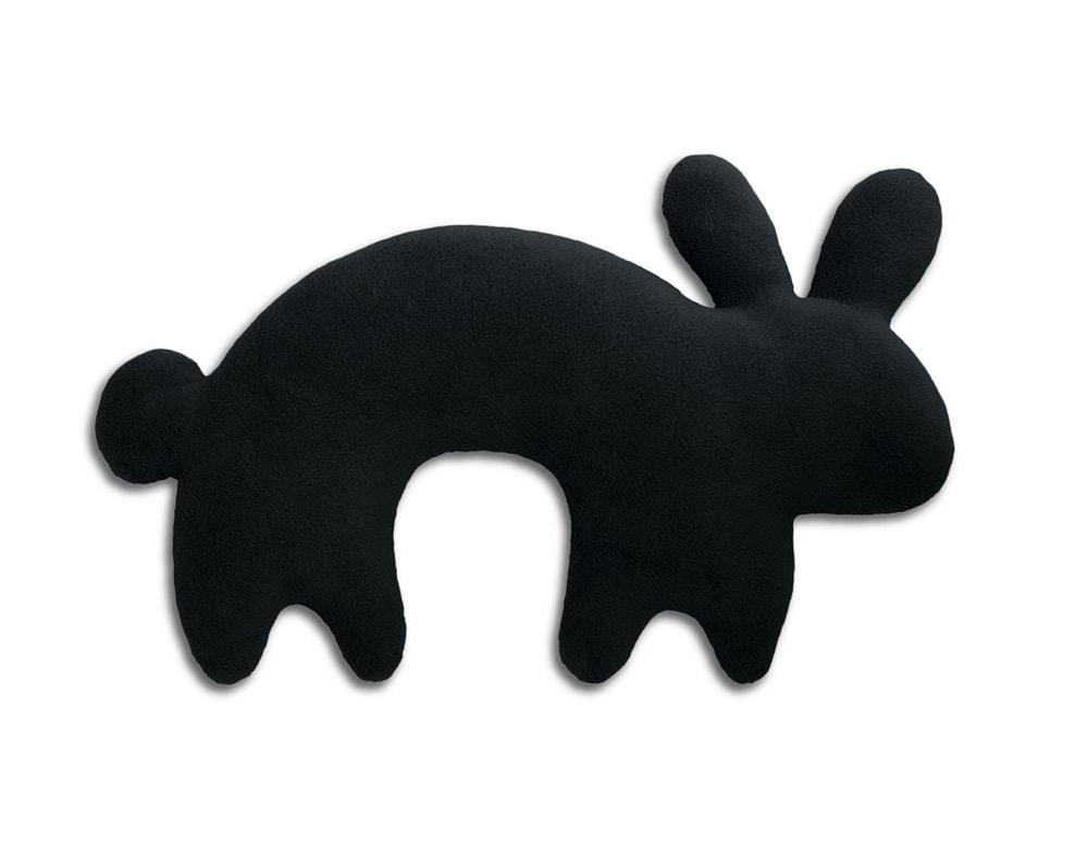 Leschi LESCHÍ Cestovný vankúš králík Paulo 46x27cm čierná/čierná