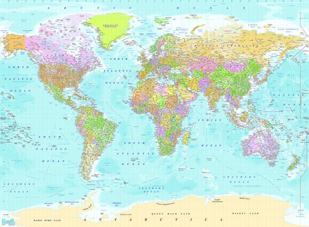 I Living Sk 1wall Fototapeta Modra Politicka Mapa Sveta 315x232