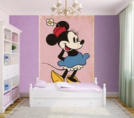 1Wall fototapeta Minnie Mouse retro 158x232 cm
