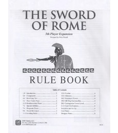 Produkt Sword of Rome: 5th Player Expansion