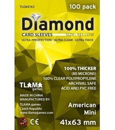 Produkt Obaly na karty (41x63mm) American Mini - Diamond, 100 ks