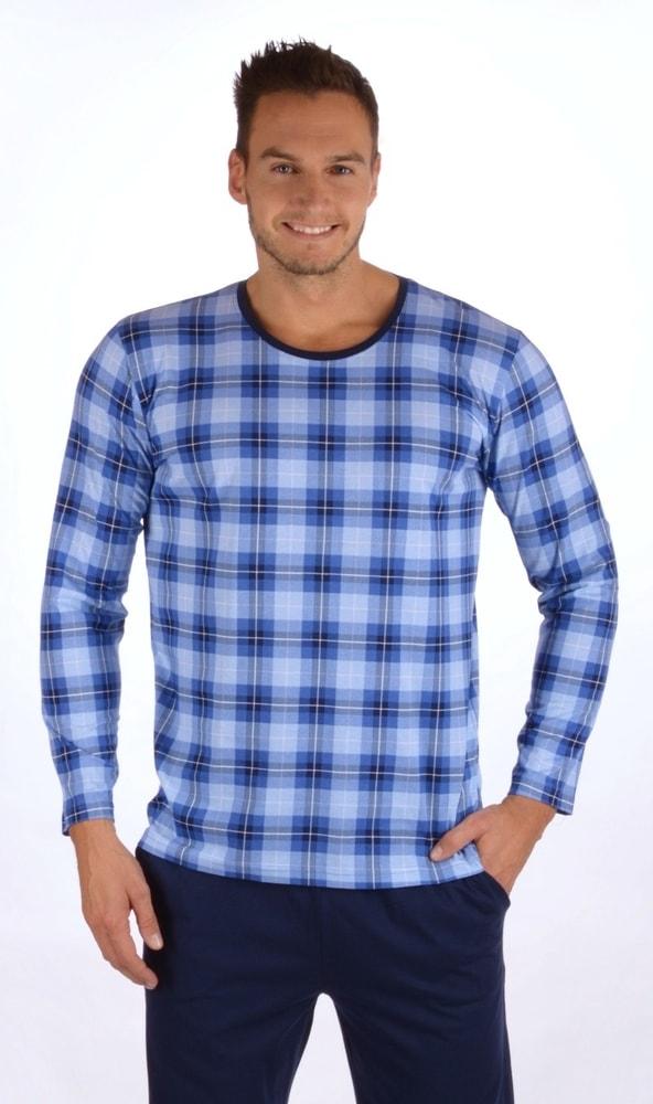 Pánské pyžamo dlouhé Honza - modrá; 2XL