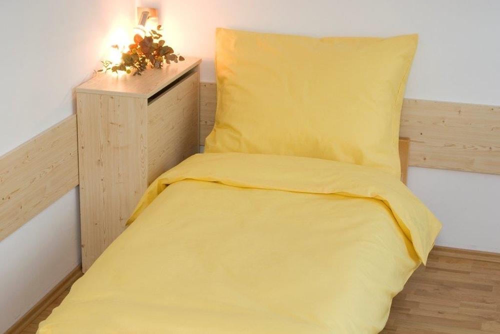 Brotex Obliečky bavlna UNI 140x200, 70x90cm Sýto žltá