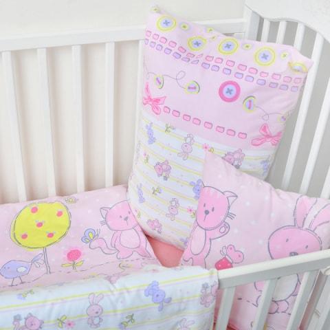 Dětské bavlněné povlečení růžová pohádka (LS322) - Dětské ložní povlečení 135x90 + 40x60 - (LS322)