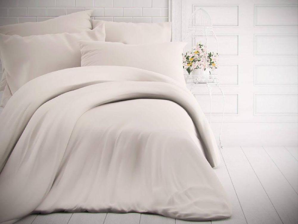 Kvalitex Jednofarebné bavlnené obliečky 140x200, 70x90cm biele