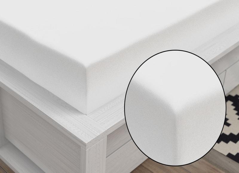 Jersey prestieradlo Classic (90 x 200 cm) - Biela