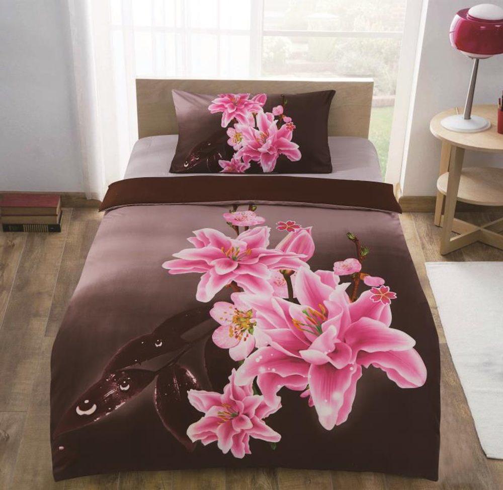3D obliečky 140x200 + 70x90 - Rozkvitnutá orchidea