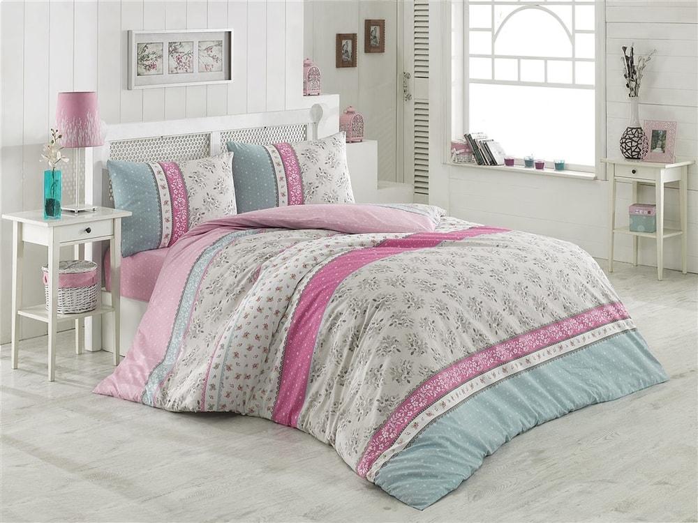 Brotex Obliečky bavlna 140x200 cm, 70x90 cm Mija ružové