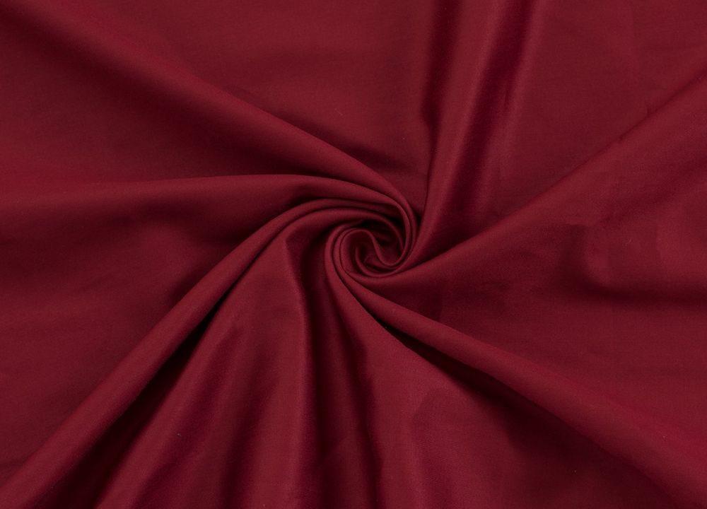 Levně Saténové prostěradlo (90 x 200 cm) - Vínová