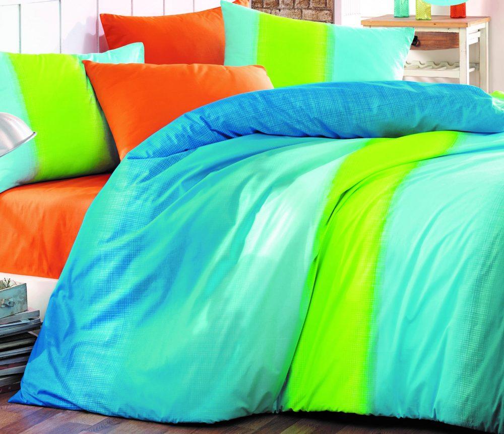 Brotex Bavlnené obliečky 140x200, 70x90cm Colorful blue