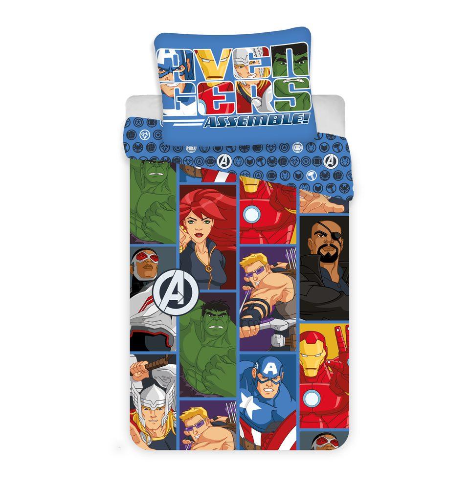 Obliečky z mikrovlákna 140x200 cm, 70x90 cm - Avengers