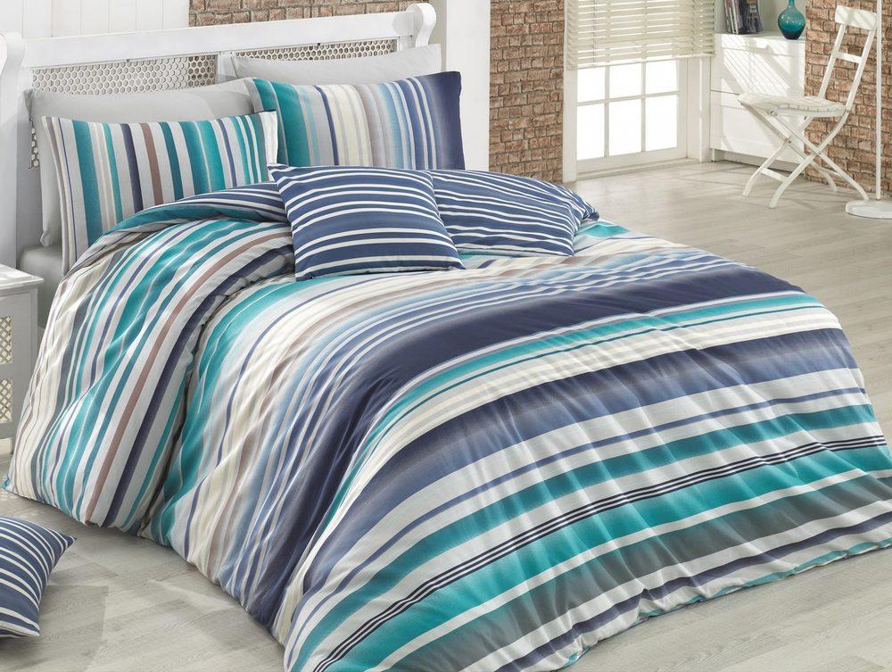 Brotex Bavlnené obliečky 200x200,70x90 - Dany blue