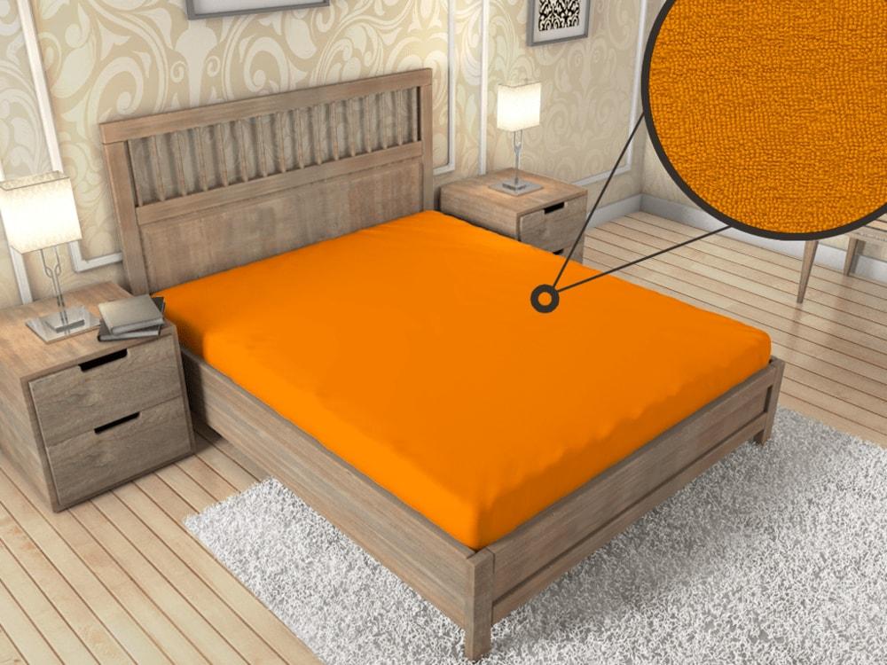 Froté prestieradlo ECONOMY (180x200 cm) - Oranžová