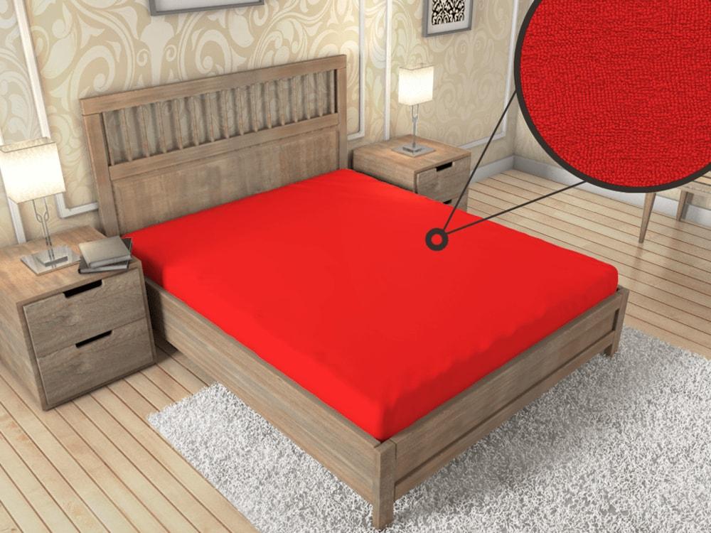 Froté prestieradlo ECONOMY (180x200 cm) - Červená