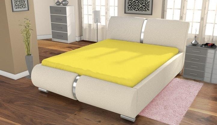 Jersey prestieradlo ECONOMY (180x200 cm) - Žltá
