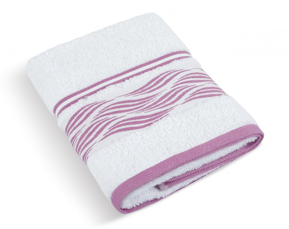 Froté ručník 50x100 cm - Vlnka bílá